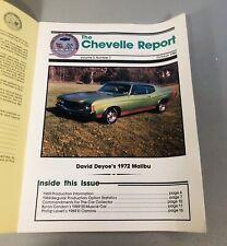 The Chevelle Report October 1984 Volume 3 #7 1972 Malibu 69 El Camino