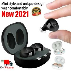 A Pair Rechargeable Digital Invisible Hearing Amplifier Sound Voice Mini ITE