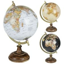 "8"" Vintage Style Rotating Atlas Globe Swivel Earth Map Science Geography World"