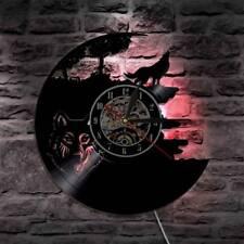 LED Wall Clock Modern Design Animal Vinyl CD Clocks Wall Watch Home Decor