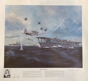 """""""Sole Survivor"""" by William Reynolds, Signed by Ensign George Gay, Ltd Ed Print"""