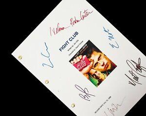Fight Club Film Movie Script Screenplay Signature Autograph Reprint Pritt Norton