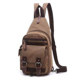 Chest Bag Men Casual Canvas Messenger Bags Men's Shoulder Bag Small Travel Bag