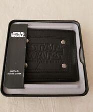 Disney Cruise Line Star Wars Last Jedi Leather Wallet New Black Bifold Dcl