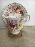 """Lovely Vintage Royal Albert Teacup & Saucer Cup of the Month """"April"""""""