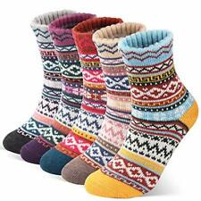 5 Pairs- Womens Thick Knitted Thermal Socks (UK 3-7 EU 35-39)
