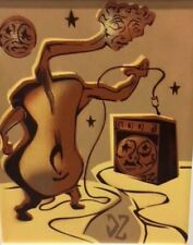 """DOUG Z: SPRAYPAINT SURREALIZM """"SEE SHARP and BE MAJOR"""" In Browns and Yellows"""
