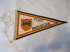 Vintage Fort Breendonk Belgium Pennant