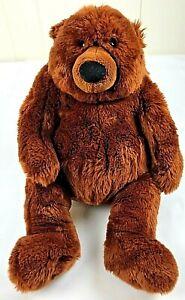 """GUND 13"""" BURLY Brown Sitting Teddy Bear 88799 Stuffed Animal Soft Plush"""
