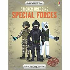 Usborne Sticker Dressing Special Forces by Jonathan Melmoth NEW BOOK (P/B 2014)