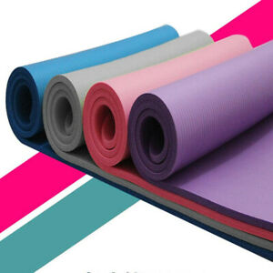 YOGA MAT FOR PILATES GYM EXERCISE CARRY STRAP 15MM THICK COMFORTABLE NBR