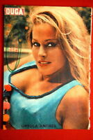 URSULA ANDRESS ON BACK COVER 1966 RARE EXYU MAGAZINE