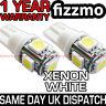 2x 5 SMD LED 501 T10 W5W PUSH WEDGE HID XENON WHITE 360 DEG SIDE LIGHTS UK