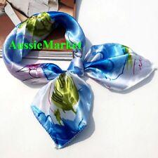1 x ladies girls womens scarf shawl wrap silk satin fashion scarves 50cm new