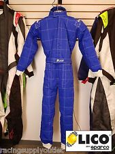 Sparco/Lico  Go Kart Racing Suit FIA  Blue 2 Layer  Size XXX Large [In the USA]