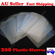 200 Clear Plastic sleeves hold 1 disc flap CD/DVD High Quality Ebox Brand