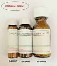 ARSENICUM ALBUM in 6C 30C 200C 1M Homeopathic remedy 8/16/24 Grams  Homeopathy
