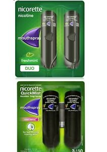 Nicorette QuickMist Mouth Spray Freshmint Cool Berry 1 mg Duo and Single Pack