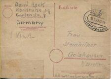 Local/barfrankatur überklebung redevances Mot 6 pf. Carte postale Karlsruhe (b08042)