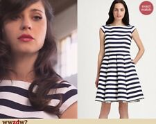 Kate Spade Mariella Striped Fit And Flare Nautical Dress Blue White 0