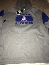 Nike New England Patriots Historic Fan Gear Football Hoodie Sweatshirt Size XL