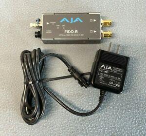 Aja FiDO-R | 1-Channel Single-Mode LC Fiber to 3G-SDI Receiver w/ Power | (14D)