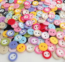 500pcs Mixed Colors Resin  2 holes Round Buttons Fit Sewing Scrapbook DIY Hrk512