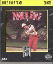 Power Golf TG16 Turbo Grafx 16