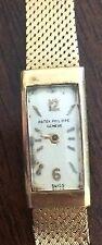 Vintage 1942 Patek Philippe 18k Ladies Wristwatch Movement Case Back Crown 18J