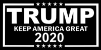 Trump 2020 Decal Vinyl Bumper Sticker Make Keep America Great Again Donald