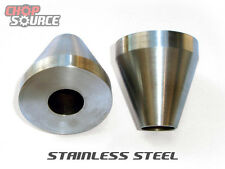 "Motorcycle Frame Jig Neck Cones - Stainless Steel - 2"" O.D. - Chopper - Harley"
