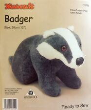 Badger giocattolo morbido KIT-crea la tua-COCCOLONE PELLICCIA TESSUTO-Regalo Bambini Sew