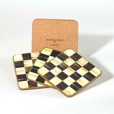 MacKenzie-Childs Courtly Check Cork Back Coasters - Set of 4