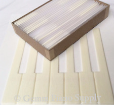 """Piano Keytops, Simulated Satin Ivory 6"""" Length, 2"""" Head - Set of 52 Replacement"""