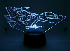 F 16 RC EDF Airplane 3D Acrylic Light with Extras
