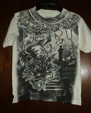 Boys APOSTASY White Graphic Shirt Size 4, The Force of Evil