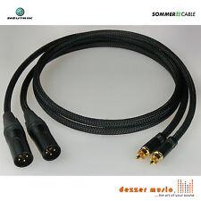 2x 1m Adapterkabel ALBEDO SCHWARZ XLR Cinch male Sommer Cable / High End