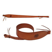 Tourbon Genuine Leather Gun Sling Rifle Strap 2 Points Range Shooting Vintage US