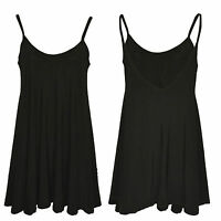 New Ladies Womens Plain Stretchy Sleeveless Strappy Tank Camisole Vest Top 16-26