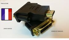 Adapter Cable DVI 24+5 Female to HDMI Male New Color Noire. Dispatch from Fr