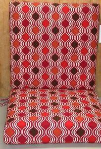 Deep Seat Cushion Set ~ Ogee ~ Back 20x21x5.5  Seat 20x21x5.5 **NEW**