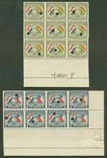 Paraguay 1945 Flags 40c & 1g PROOF BLOCKS IMPERF VERT.