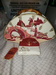 Loungefly Disney Mulan Bamboo Handle Fan Handbag & Matching Wallet NWT