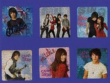 12 Foil Camp Rock Large Stickers - Party Favors - Jonas Brothers, Demi Lovato
