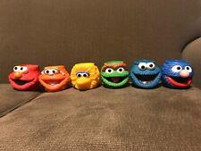 Extremely Rare Applause Sesame Street Elmo Big Bird Mugs Toys Figures Set