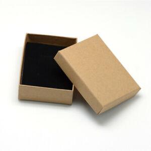 12 pcs Tan Rectangle Cardboard Jewelry Set Gift Box with Sponge inside 9x7x3cm