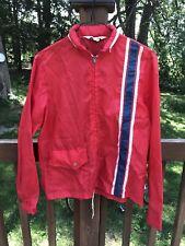 VERY RARE Vintage 1970's John Galliano Windbreaker Jacket Red Blue Stripe *READ*