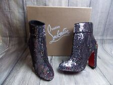 CHRISTIAN LOUBOUTIN MOULAMAX 100 SEQUIN LADIES ANKLE BOOTS BNWB GENUINE £875 4.5