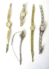 Lot 5 Womens Vintage Watches for Parts Repair Timex Glycine Unbranded