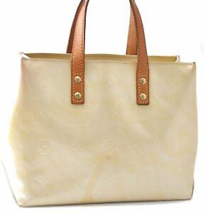 Authentic Louis Vuitton Vernis Reade PM Hand Bag Cream Ivory LV D1268